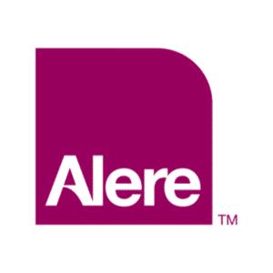 Alere purple block logo