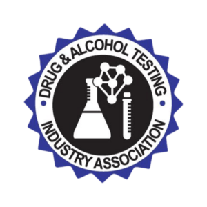 Drug & Alcohol Testing Industry Association logo with lab equipment.