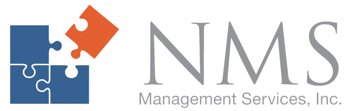 NMS Management Services, Inc. Logo with puzzle piece.